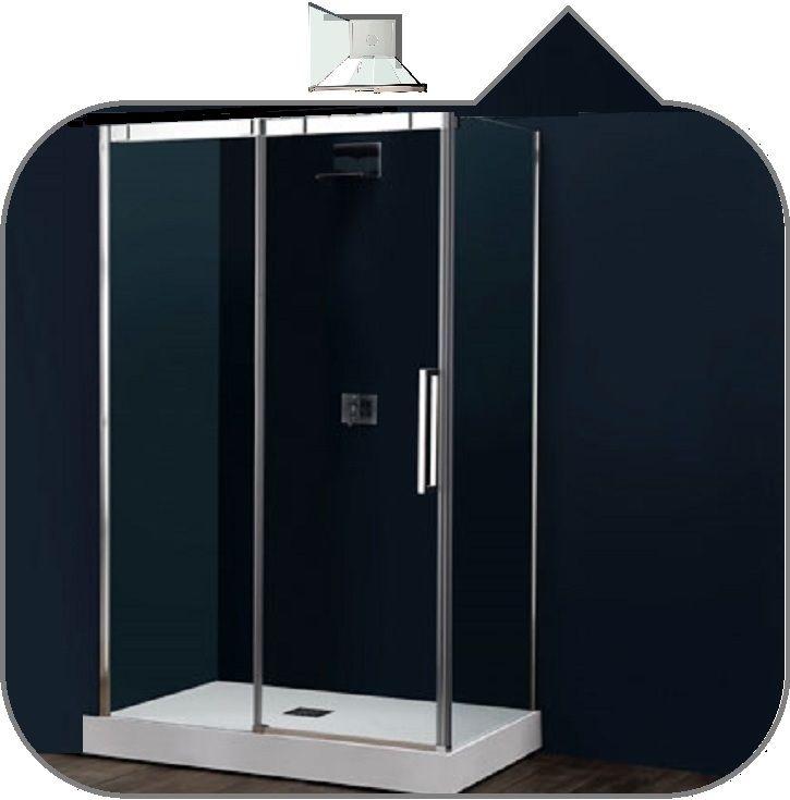 Box doccia ad angolo con porta scorrevole 6FPSC15+6klf tamanaco in vetro  temperato 6 mm.trasparente reversibile dx o sx trattamento easy clean  incluso