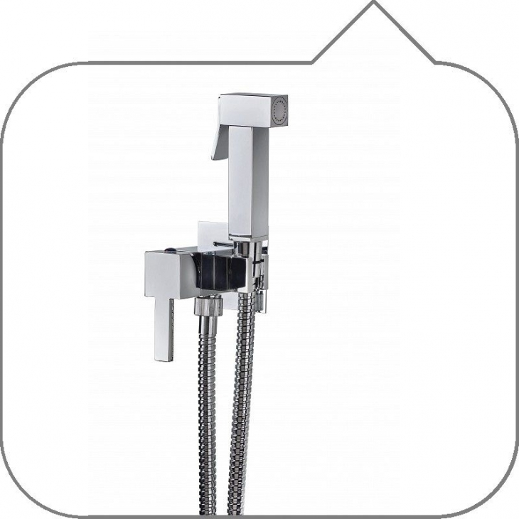 Cube miscelatore monocomando da incasso con doccetta viola a pulsante in  ottone cromato con.flex cm.120 lusso