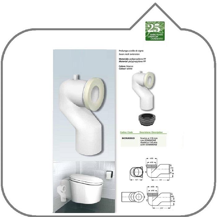 Universalshop online it prolunga a collocigno per wc con for Scarico wc a parete
