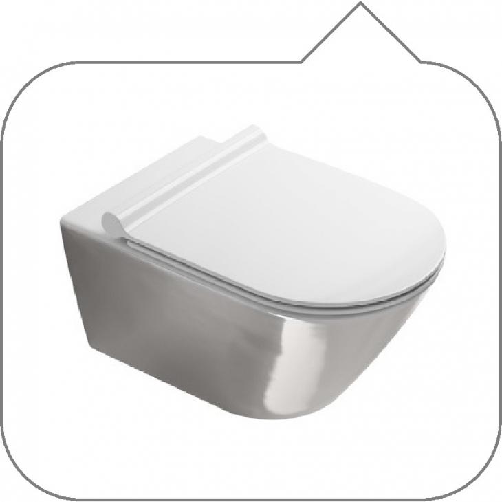 Vaso zero 55 catalano wc sospeso newflush gold & silver 1°scelta fissaggio  dal basso cod.5KFST00 non inclusi